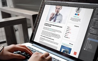 Créer le template d'un blog responsive avec Photoshop Photoshop